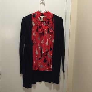 Zara black long cardigan in size S